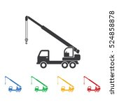 truck crane icon. construction... | Shutterstock .eps vector #524858878