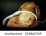 sweet little baby dreaming of... | Shutterstock . vector #524862769