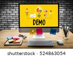 demo  demo preview  ideal  ... | Shutterstock . vector #524863054