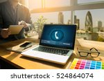 call me contact us customer... | Shutterstock . vector #524864074