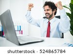 very happy and excited... | Shutterstock . vector #524865784