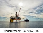 offshore production platform... | Shutterstock . vector #524867248