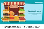 farm market organic eco fruits... | Shutterstock .eps vector #524868460