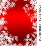 snowflake background | Shutterstock . vector #524870029