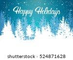 Happy Holidays Winter Mountain...