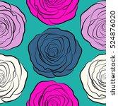 vector flower pattern sketch.... | Shutterstock .eps vector #524876020