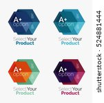 vector set of geometric paper... | Shutterstock .eps vector #524881444