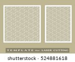 abstract cutout panels set for... | Shutterstock .eps vector #524881618