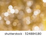Gold Blurred Abstract Bokeh...