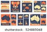 vector set of various australia ... | Shutterstock .eps vector #524885068