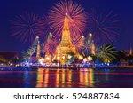 bangkok new year countdown... | Shutterstock . vector #524887834