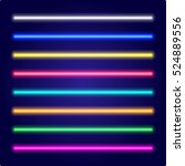 neon tube light.... | Shutterstock .eps vector #524889556