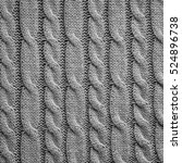 Gray Knitting Wool Texture...