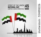 united arab emirates  uae .... | Shutterstock .eps vector #524898226