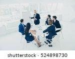 director making presentation...   Shutterstock . vector #524898730