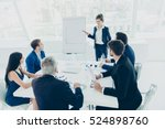 young successful businesswoman...   Shutterstock . vector #524898760