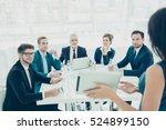 businessmen and women  in... | Shutterstock . vector #524899150