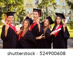 successful excited five... | Shutterstock . vector #524900608