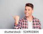 happy handsome young man... | Shutterstock . vector #524902804