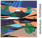 trendy vector cards... | Shutterstock .eps vector #524903668