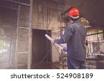 engineer and architect working... | Shutterstock . vector #524908189
