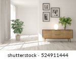 white room with shelf.... | Shutterstock . vector #524911444