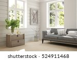 white room with sofa and green... | Shutterstock . vector #524911468