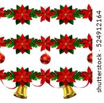 set of n seamless christmas... | Shutterstock .eps vector #524912164