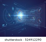 three dimensional interface... | Shutterstock .eps vector #524912290