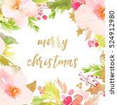 merry christmas calligraphy... | Shutterstock . vector #524912980