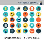 car repair service concept flat ... | Shutterstock .eps vector #524915818