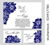 vintage delicate invitation... | Shutterstock .eps vector #524917780