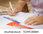 health care costs concept... | Shutterstock . vector #524918884