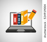 learn online school books...   Shutterstock .eps vector #524919004