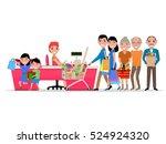 vector cartoon people doing... | Shutterstock .eps vector #524924320