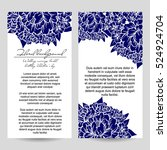 romantic invitation. wedding ... | Shutterstock .eps vector #524924704
