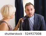 man under pressure of his angry ... | Shutterstock . vector #524927008