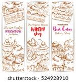 bakery shop banners. vector... | Shutterstock .eps vector #524928910