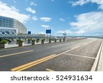 empty highway with cityscape... | Shutterstock . vector #524931634