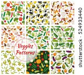 set of vector vegetable... | Shutterstock .eps vector #524933440