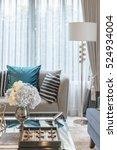 luxury living room with set of... | Shutterstock . vector #524934004