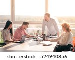 business people having round... | Shutterstock . vector #524940856