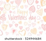 vector love background with... | Shutterstock .eps vector #524944684