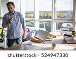 businessman sleeping on table... | Shutterstock . vector #524947330