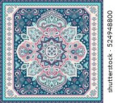 indian floral paisley medallion ... | Shutterstock .eps vector #524948800