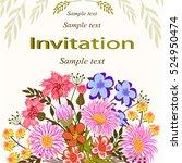 invitation or wedding card... | Shutterstock .eps vector #524950474