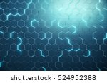abstract blue of futuristic... | Shutterstock . vector #524952388