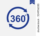 angle 360 degrees vector icon | Shutterstock .eps vector #524956330