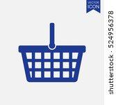 shopping basket vector icon   Shutterstock .eps vector #524956378