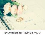 Wedding Note On A Calendar Set...